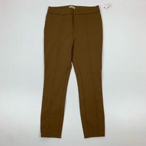 Anthropologie Essential Slim Ankle Zip Pants